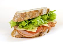 Ham and Salad Sandwich Royalty Free Stock Photography