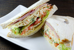 Ham Salad Sandwich. A homemade ham salad sandwich Stock Photos