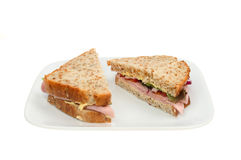 Ham salad sandwich Royalty Free Stock Image