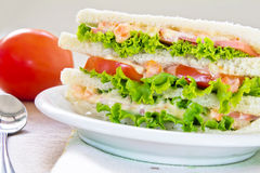 A ham salad sandwich. On oat bread Royalty Free Stock Image