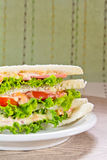 A ham salad sandwich. On oat bread Stock Photos