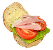 Ham And Salad Sandwich Roll Stock Photos