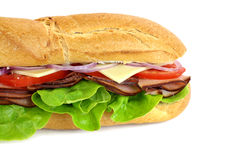 Ham And Salad Sub Royalty Free Stock Photo