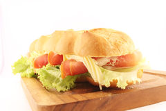 Ham salad submarine sandwich Stock Photography