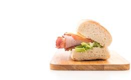 Ham and salad submarine sandwich Stock Photography