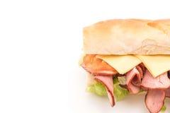 Ham and salad submarine sandwich Stock Image