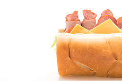Ham and salad submarine sandwich Royalty Free Stock Images