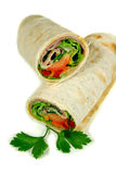 Ham And Salad Wrap 1 Royalty Free Stock Photo