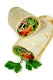 Ham And Salad Wrap 1 Royalty Free Stock Photo