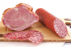 Ham and salami Stock Photo