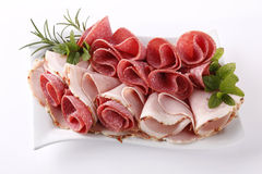 Ham and salami Royalty Free Stock Images