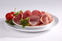 Ham and salami Stock Image