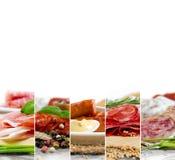 Ham and Salami Mix Royalty Free Stock Images