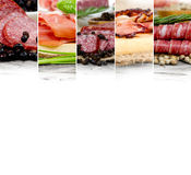 Ham and Salami Mix Stock Photos