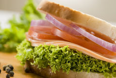Ham sandwich Royalty Free Stock Image