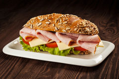 Ham Sandwich Lizenzfreie Stockfotos
