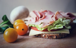 Ham Sandwich Foto de Stock Royalty Free