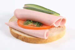 Ham sandwich with cheese Royalty Free Stock Photos