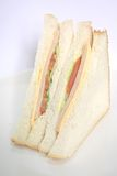 Ham Sandwich the Classic Meal. The tasty ham sandwich prepared to perfection and a classic meal stock photos