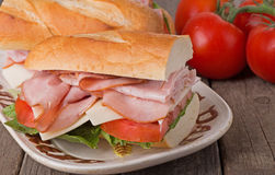 Ham Sandwich Closeup Stock Photo