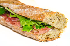 Ham sandwich closeup Stock Images