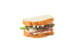 Ham sandwich on french bread. Stock Images