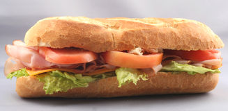 Ham Sandwich; Hoagie; Sub Stock Photo