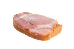 A ham sandwich isolated on white Royalty Free Stock Photo