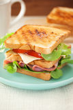 Ham sandwich for meal Royalty Free Stock Images