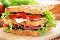 Ham sandwich for meal Royalty Free Stock Image