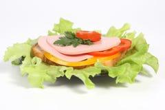 Ham sandwich with ripe potato Stock Photos