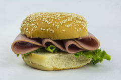 Ham sandwich. A ham sandwich on a white back ground Royalty Free Stock Photos