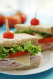 Ham sandwiches Stock Photos