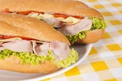 Ham sandwiches Royalty Free Stock Photo
