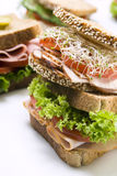 Ham sandwiches Royalty Free Stock Photo