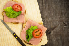 Ham Sandwiches Stock Photography
