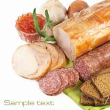 Ham and sausage Stock Images