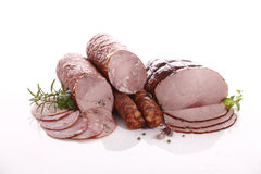 Ham and sausage Royalty Free Stock Image