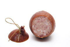 Ham sausage with cord Stock Image