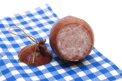 Ham sausage with cord Stock Photo