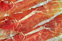 Ham slices background Stock Photo