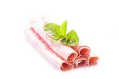Ham slices isolated stock photos