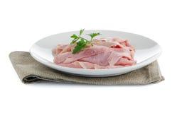 Ham slices Stock Photo