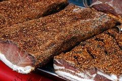 Ham smoked and dried Stock Photos