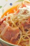 Ham spaghetti Stock Photos