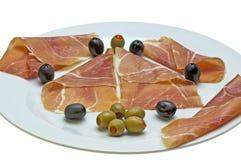 Ham of Spain Jamon Serrrano Stock Image