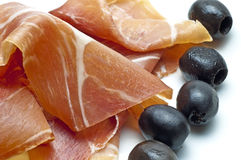 Ham of Spain Jamon Serrrano Royalty Free Stock Photography