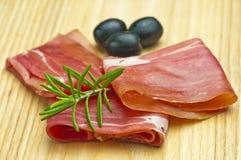 Ham of Spain Jamon Serrrano Royalty Free Stock Photos