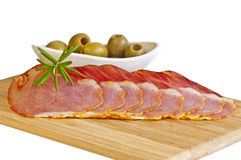 Ham of Spain Lomo Royalty Free Stock Photos
