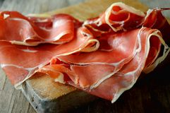 Ham spain pork dried process slicing delicatessen Royalty Free Stock Photography